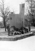 Monument (2) in Municipal Park. Honorary guard after unveiling on 27 April 1947