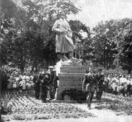 Monument (3) in Municipal Park. Unveiling of border guard statue in 1955