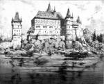 Reconstruction of the appearance of the castle in 1634. R. Schindelbuch 1924