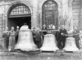 Church of Saint Nicholas. Bells for Cheb at the workshop of bell-founder Perner in České Budějovice in 1928