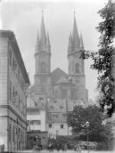 Church of Saint Nicholas. Towers from the east. J. Haberzettl around 1900