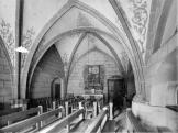 Franciscan church. Interior. Former Clarisse chapel. 1946