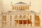 Theatre. Design of A. Haberzettl from 1872. Forefront facade
