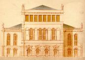 Theatre. Design of A. Haberzettl from 1872. Rear facade