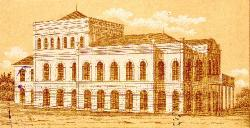 Theatre. Overall view in 1874