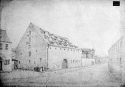 Construction yard. Armoury in 1871. Drawing by Kitzler