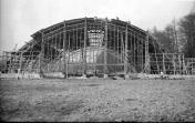 Poohří. Construction of new singers' hall in 1931