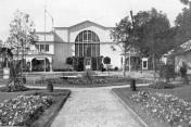 Poohří. Singers' and exhibition hall. Agricultural exhibition in 1923