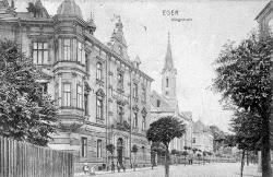 Savings Bank. View from Nádražní Street in 1910