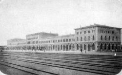 Railway station. Main building from the north-east. Th. Meier, 1866