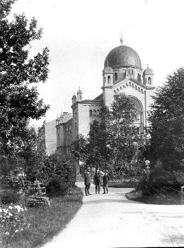 Synagoge. Die neue Synagoge in der Ringsstrasse im Jahre 1903