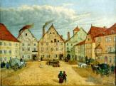 Goldhammer House. South forefront of the square before 1865, picture by F. Schilhabel