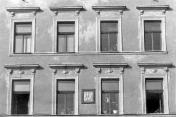Schlick House. Facade and coat of arms. Around 1940