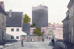 Entry to the castle. Around 1890